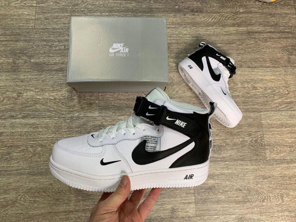 Зимние белые высокие кроссовки Nike AF-1 Mid
