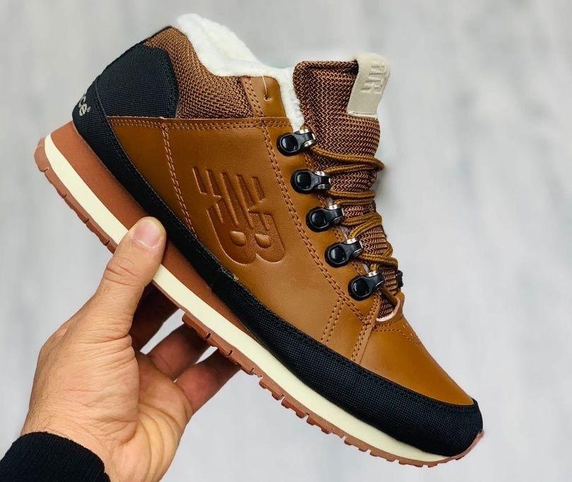 Зимние кроссовки New Balance 754 на меху светло-коричневые