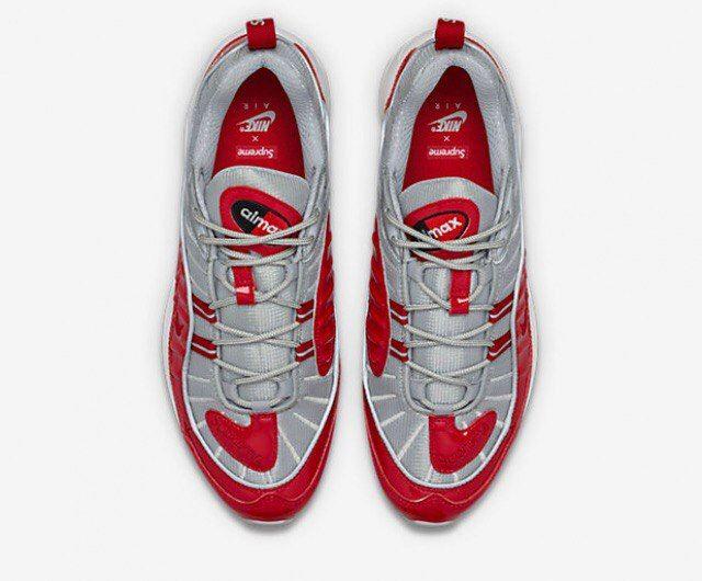 Nike Air Max 98 Supreme Red  Silver