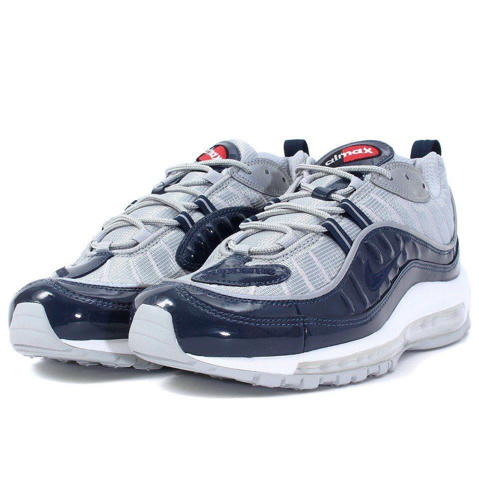 Nike Air Max 98 Supreme Obsidian Silver White