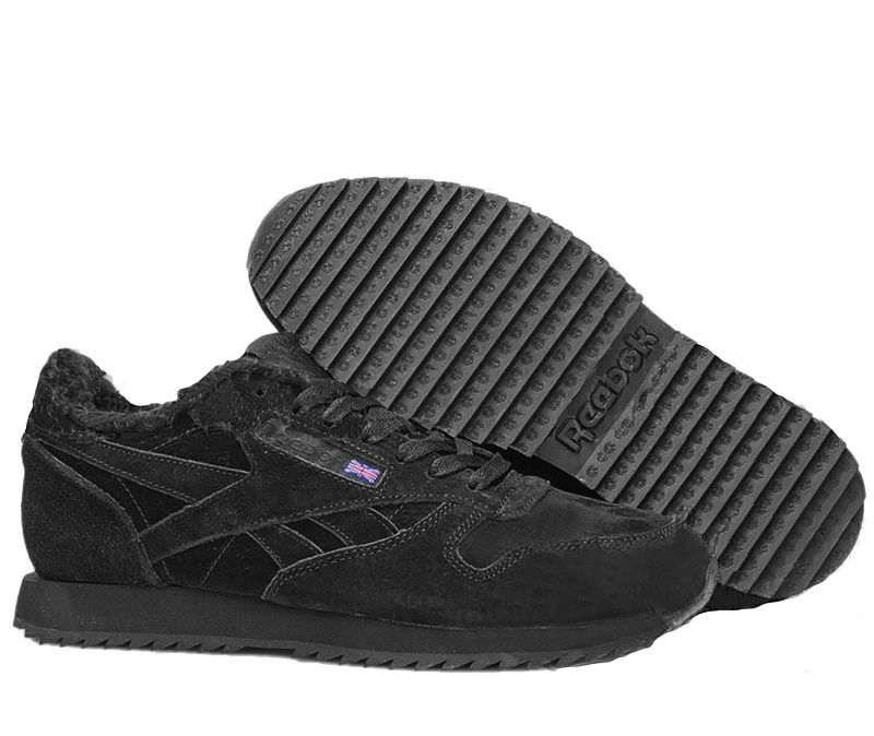 Зимние замшевые кроссовки на меху Reebok