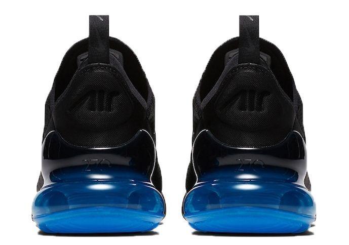 Кроссовки Nike Air Max 270 черные с синим