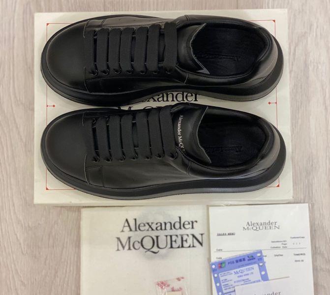 Кожаные кроссовки Alexander McQueen Black