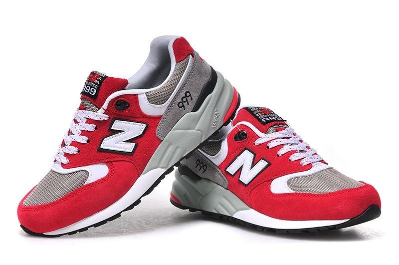 New Balance 999 женские (серые/красные)