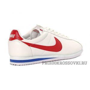 Мужские кроссовки Nike Cortez Leather WhiteRed