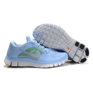 Кроссовки Nike Free Run женские голубые