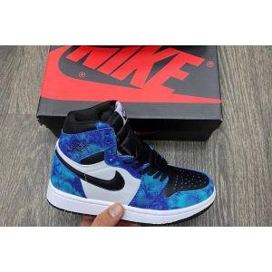 Высокие кроссы Air Jordan 1 High Tie Dye
