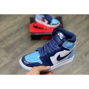 высокие женские Nike Air Jordan 1 High синие