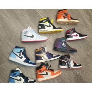 Nike Air Jordan 1 Mid black orange