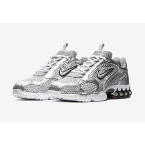 кроссовки Nike Air Zoom Spiridon Caged Metallic Silver