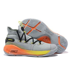 Under Armour Curry 6 High  Grey / Orange