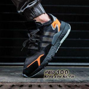 Adidas Nite Jogger черные с оранжевым