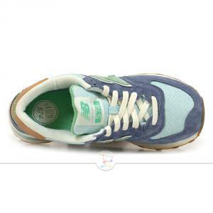 Кроссовки New Balance 574 сине-зеленые женские