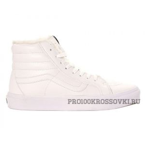 Зимние кеды Vans Old Skool белые