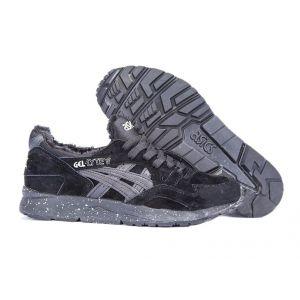 Купить мужские кроссовки Asics Gel Lyte 5 зимние черные на меху