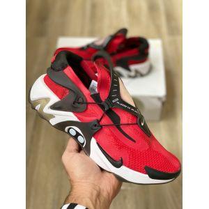 Nike Air Huarache черно-красные кроссовки