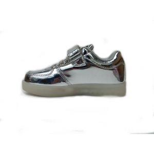 кроссовки светодиодные серебряные
