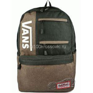 Рюкзак городской Vans черный с коричневым