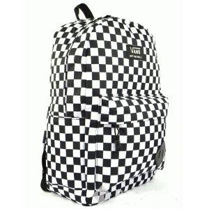 Рюкзак Vans Old Skool II Black/White Checkers черно-белые шашки