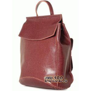 Кожаный женский рюкзак-сумка цвета