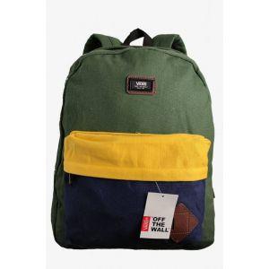 Рюкзак городской Vans зеленый с желтым