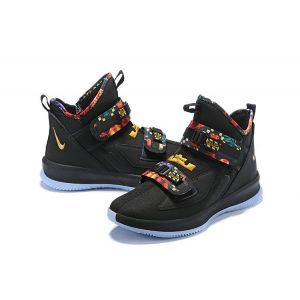Nike LeBron Soldier 13 Black Multi-Color Basketball Shoes