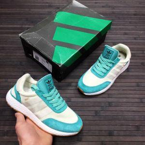 Женские кроссовки Adidas Iniki мятные с белым