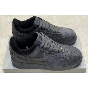 Зимние Nike Air Force на меху серые