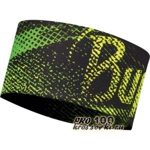 Повязка на голову спортивная Buff Flash Logo Yellow Fluor