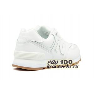 кожаные белые кроссовки New Balance 574 Leather White