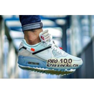 Кроссовки Off-White x Nike Air Max 90 Blue Ice