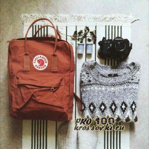 Шведский рыжий рюкзак Fjallraven Kanken Classic
