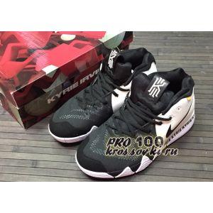 Высокие кроссовки Nike Kyrie 4 Black White Basketball Shoes