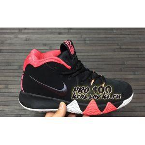 Высокие кроссовки Nike Kyrie 4 Black Red Basketball Shoes