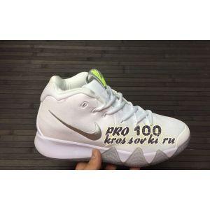 Высокие кроссовки Nike Kyrie 4 White Silver
