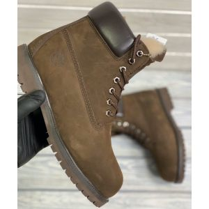 Timberland 6 Inch Premium Waterproof Boots Brown на меху