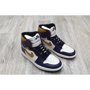 кроссовки Air Jordan 1 Retro High Purple Gold