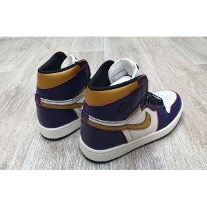 кроссовки Air Jordan 1 Retro High Purple Gold