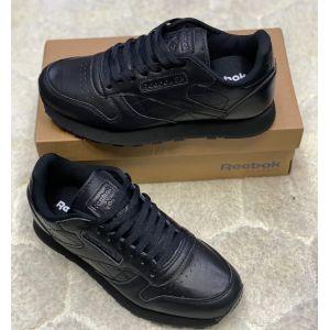 Кожаные черные кроссовки Reebok Classic Leather