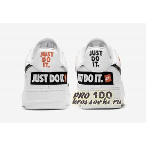 "Nike Air Force 1 '07 Premium ""JUST DO IT"" IN WHITE"