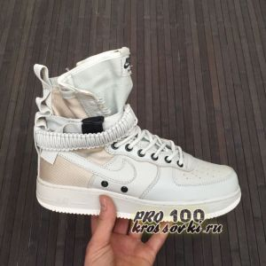 Высокие кроссовки Nike SF AF1 White-Gold