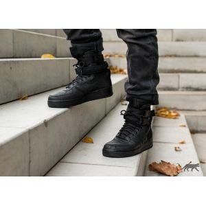 Высокие  Nike SF AF1 Triple Black