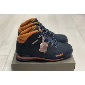 Зимние мужские ботинки на меху Timberland синие