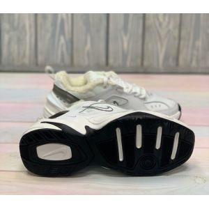 Зимние женские Nike M2K Tekno White Platinum на меху