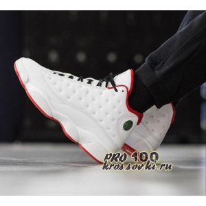 высокие кроссовки Air Jordan 13 белые