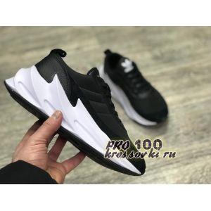 кроссовки Adidas Sharks черно-белые