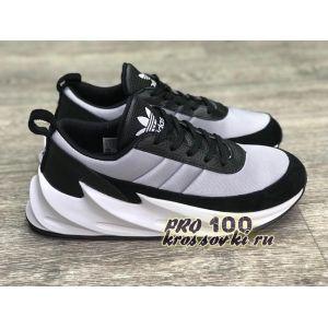 кроссовки Adidas Sharks черно-серо-белые
