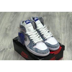 Баскетбольные Nike Air Jordan 1 Retro Grey Blue