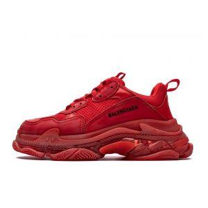 Кроссовки Balenciaga Triple S красные