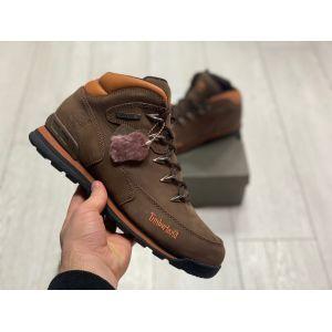 Зимние ботинки на меху Timberland Hiker коричневые